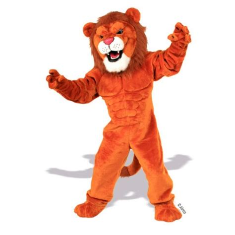 lion tiger mascot costumes cheer