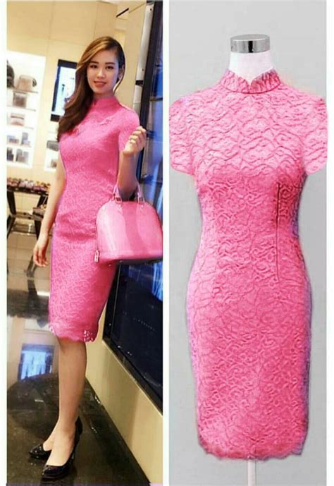 Dress Mini Bodycon Pesta Pink Hitam Katun Murah Import Cina model baju dress pendek brukat cantik terbaru dan murah
