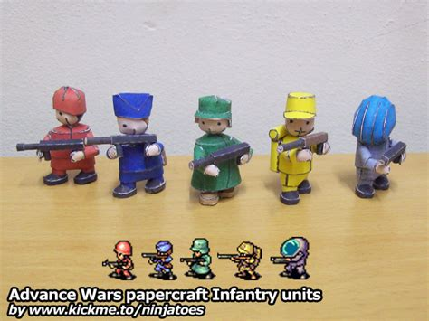 Advance Wars Papercraft - ninjatoes papercraft weblog papercraft advance wars