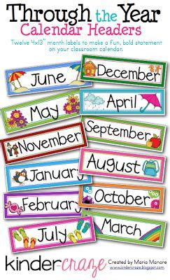 printable calendar labels for classroom the 25 best ideas about birthday chart classroom on