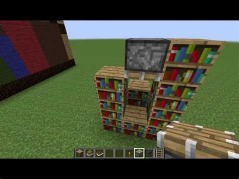how to make a working bookshelf updated minecraft