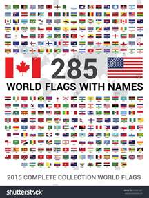vector set 285 world flags sovereign stock vector