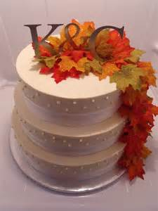 three tier autumn wedding buttercream cake cakes by kimberly