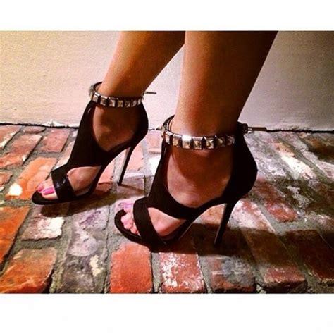 black high heels with diamonds shoes black high heels diamonds rhinestones wheretoget