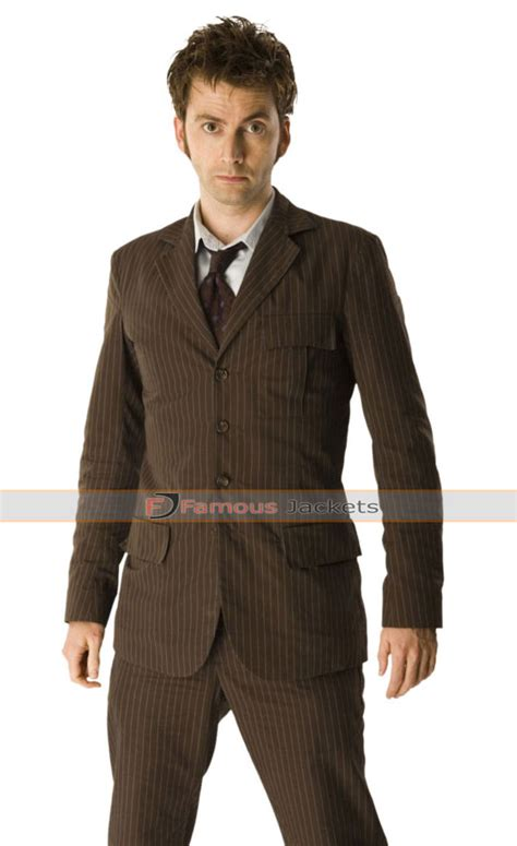 david tennant blue suit brown suit with blue pinstripes suit la