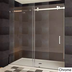 Ultra b 44 48x76 inch semi frameless sliding shower doors ebay