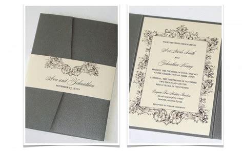 fold and send wedding invitations pocket fold vintage wedding invitation sle ivory