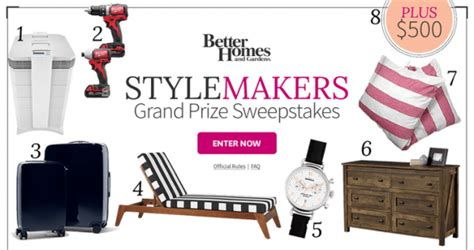 Bhg Giveaway - bhg stylemakers sweepstakes bhg com stylemakerssweeps