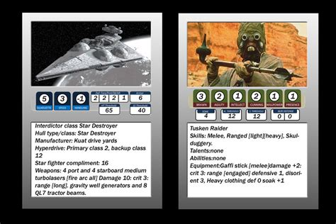 Wars Ffg Npc Card Template by Custom Npc Cards For Players Wars Edge Of The