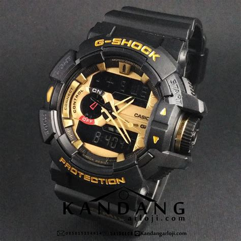 Casio G Shock Gba 400 Black jual g shock g mix gba 400 1a9er black gold