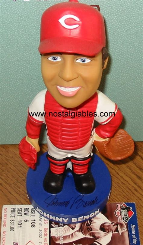johnny bench bobblehead los angeles angels of anaheim