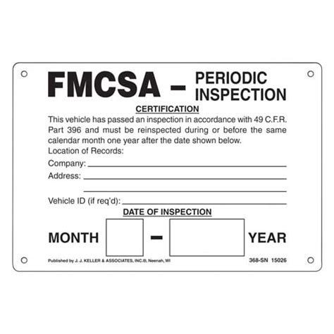 Federal Dot Inspection Stickers