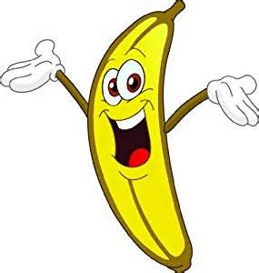 Happy face banana picture art kids bed room peel amp stick sticker