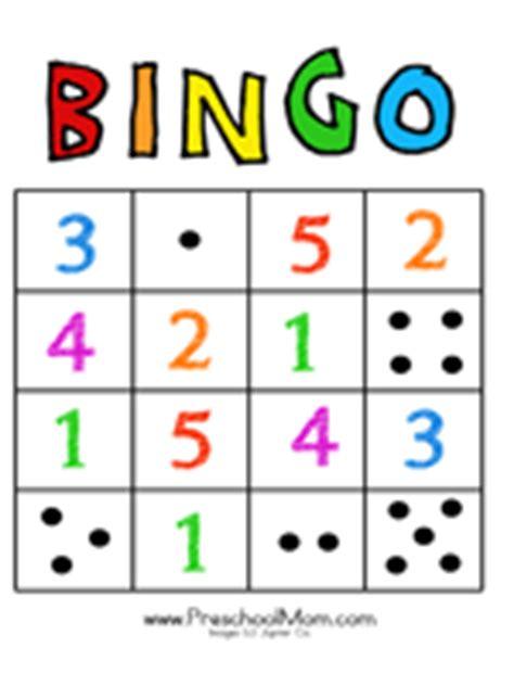 printable children s number bingo cards free preschool bingo games