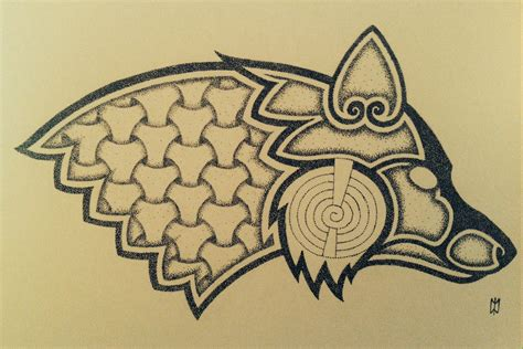 viking art tattoo designs norse norse fox design by nirvanaoftime on