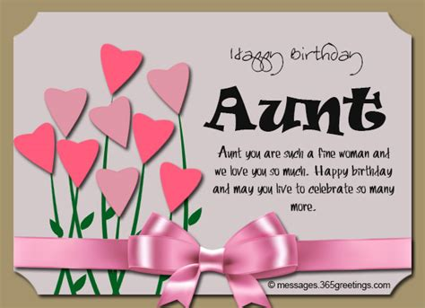 Birthday Card Verses For Auntie