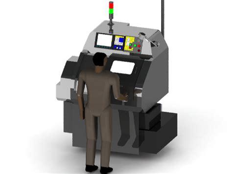 Mesin Bubut Mini machine cnc lathe mini 88 step iges solidworks 3d cad model grabcad