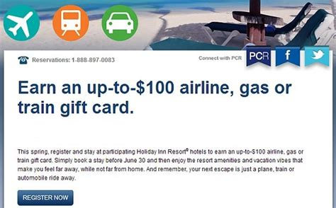 Holiday Inn Gift Cards Canada - holiday inn resort up to 100 travel gift card offer loyaltylobby