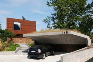 Car Garage Design really like this open car garage idea with cantilevered concrete