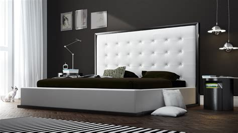 White Bedroom Furniture Toronto White Leather And Wenge Siena Platform Bed Zuri Furniture