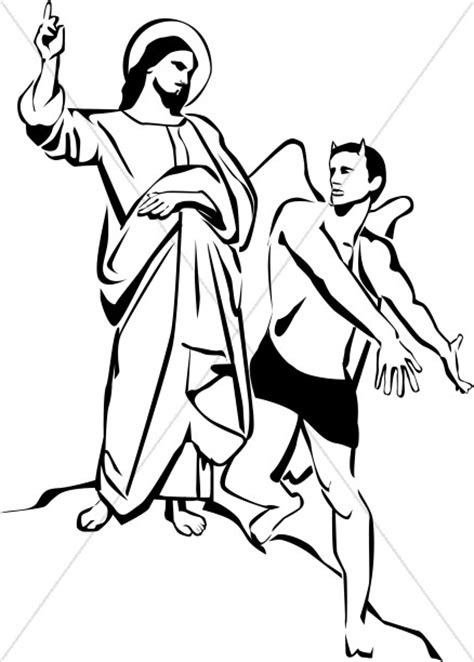 coloring page jesus being tempted temptation of clipart temptation of jesus clipart