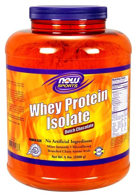 Now Whey Protein Isolate now foods whey protein isolate chocolate 5 lbs