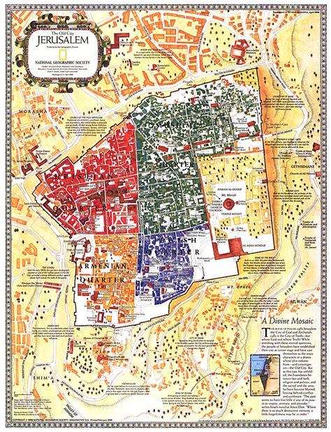 jerusalem map jerusalem the city map asia map archive wall maps