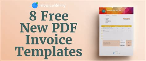 free templates for photos free new pdf invoice templates invoiceberry