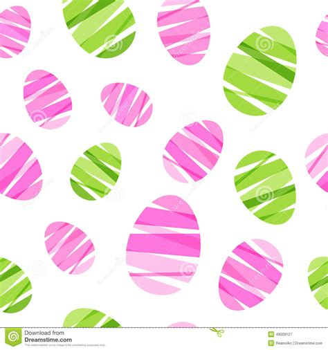 seamless ribbon pattern seamless ribbon wrapped easter eggs pattern stock vector