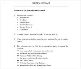 Cleaning Contract Templates by Cleaning Contract Template 27 Word Pdf Documents