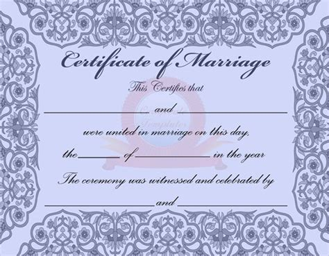 marriage certificate template microsoft word sle marriage certificate template 18 documents in