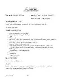 Resume For Custodian by Doc 8001035 Custodian Resume Exle Template Bizdoska