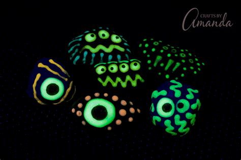 glow in the paint on rocks glow in the rocks a glowing craft