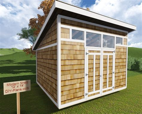 contemporary shed plans 12x14 modern shed plan