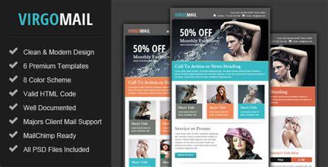 themeforest newsletter virgomail email marketing newsletter template by