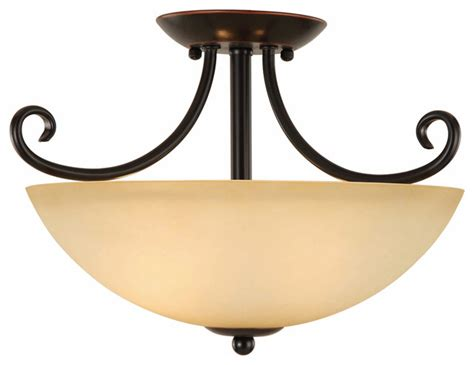 rubbed bronze semi flush mount ceiling light fixture