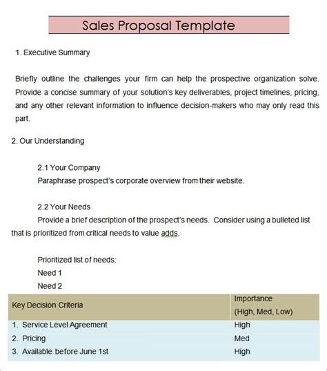 sales proposal template 20 download free documents in