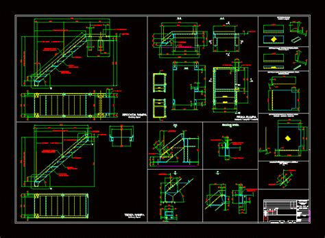 metal stairs dwg block  autocad designs cad