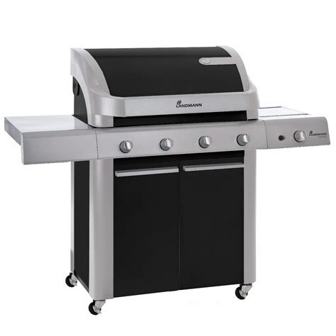 landmann 12873 cronos gas barbecue 4 burner black bbq