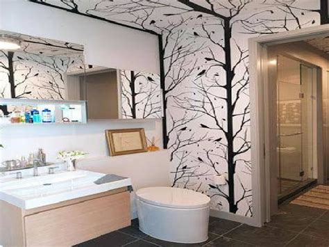 Wallpaper Ideas For Small Bathroom by Small Bathroom Wallpaper Ideas Bathroom Design Ideas And