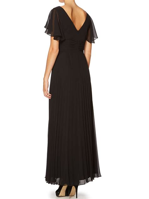 Flutter Sleeve Dress ariella flutter sleeve maxi dress in black lyst