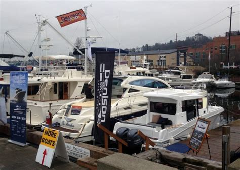 seattle boat show denison yacht sales on display at 2014 seattle boat show