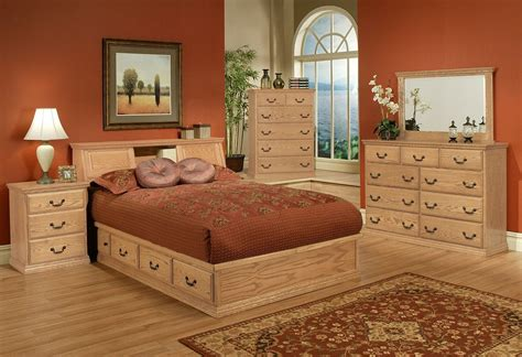 platform bedroom suites traditional oak platform bedroom suite queen size