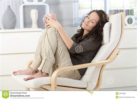 relaxing in armchair stock photography image 23376082