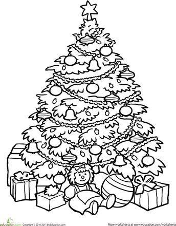 coloring book pictures of christmas trees christmas tree coloring page worksheets christmas tree