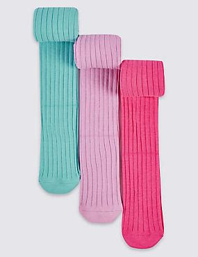 Rich Cotton Legging Flowers Rainbow 3 pairs of cotton rich freshfeet tights 18 months 14 years