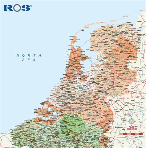 netherlands highway map holanda mapas murales personalizados laminados forex