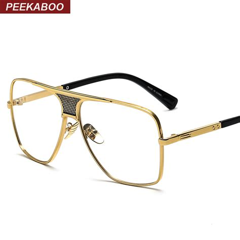 peekaboo flat top glasses frame branded designer big
