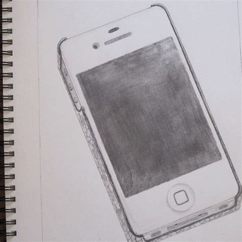 draw mobile my iphone4gs mobile phone pencil drawing flickr
