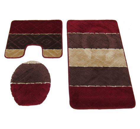 Burgundy Bathroom Rugs Burgundy Bathroom Rugs 28 Images 3 Pc Solid Burgundy Bathroom Set Bath Mat Contour Lid